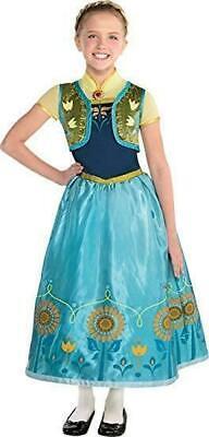 Disney Frozen Anna Kinder Mädchen Fasching Karneval Suprem Girls Kostüm Kids M L