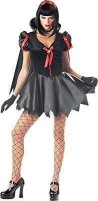 Snow Fright Sexy Blk/Red Dark Fairy Tale Themed Dress W/ Cape Halloween Costume - Red Themed Kostüm