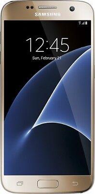Samsung Galaxy S7 SM-G930U 32GB -Gold Platinum - Mill unlock- No carrier logo
