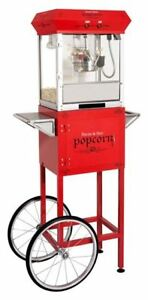 Golden Popcorn machine of 4oz. with cart