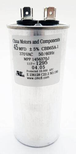 Motor Run Capacitor 45uF 370VAC 5% 50/60 Hz CBB65A-1 NEW (1 piece)