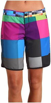 NEW Hurley Board Shorts Womens Supersede BeachRider Colorful Blocks Squares 1 3
