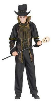 Adults Undertaker Costume Outfit Grave Digger Halloween Voodoo Witch Doctor