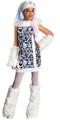 Mädchen Kind Monster High Schule Abbey Bominable Schnee Kostüm Outfit (Abbey Bominable Monster High Kostüme)