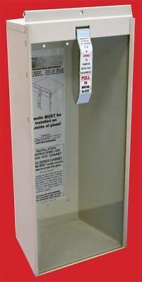 Lot Of 2 New Fire Extinguisher Cabinet Metal Wglass Break Rite Bar Lock