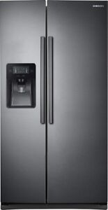 NEW Samsung Side-by-Side Black stainless steel Refrigerator