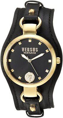 Versus by Versace Women's SOM120016 'ROSLYN' Black Leather Watch