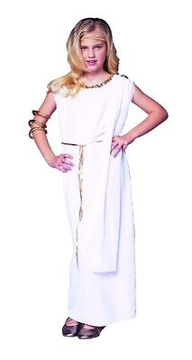 ATHENA CHILD GREEK VENUS GODDESS ROMAN GIRL KIDS TOGA COSTUME WHITE - Athena Goddess Costume