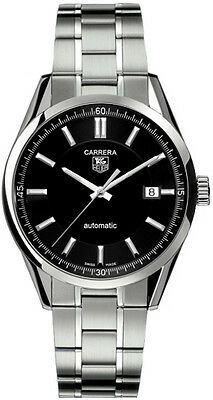 WV211B.BA0787 TAG HEUER CARRERA AUTOMATIC BLACK STAINLESS STEEL MENS WATCH