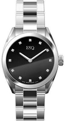 ESQ by Movado Diamond Mens Stainless Steel Watch 07301361 Swiss Sport Classic Esq Sport Bracelet