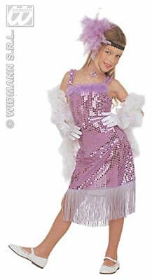 Girls Glamour Marilyn Child - Pink/Purple Costume for 50s Rock N Roll Fancy