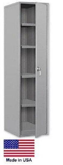 Storage Cabinet Commercial/indl - 12 Gauge Steel - 4 Shelf - Gray - 78x36x19  P