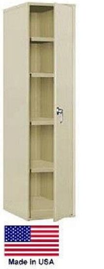 Storage Cabinet Commercial/indl - 12 Gauge Steel - 4 Shelf - Putty - 60x24x18  P