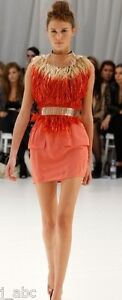 SALE!!! BNWT SASS & BIDE 'tap on the shoulder' dress silk melon coral 40 8 10