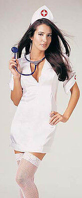 Classic Nurse Costume, Leg Avenue 8589, Adult Women's 3 Piece, Size M/L