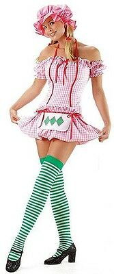 Strawberry Shortcake Costume, Leg Avenue 8411, Adult 3 Piece, Size S, M, L, XL
