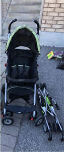 Graco stroller and another baby stroller.