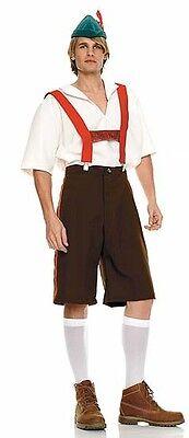 Alpine Lederhosen Costume, Leg Avenue 83240, Adult Men's 4 Piece, Size M/L, - Men's Alpine Kostüm