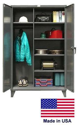 Combination Steel Locker Cabinet Commercial - Lockable - 66 H X 24 D X 48 W