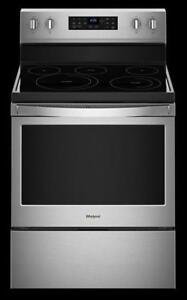 Whirlpool  YWFE520S0HW  5.3 cu. ft. guided Electric Rear Control Range (BD-2179)