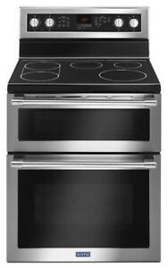 MAYTAG  30-INCH WIDE DOUBLE OVEN ELECTRIC RANGE YMET8800FZ (BD-2032)