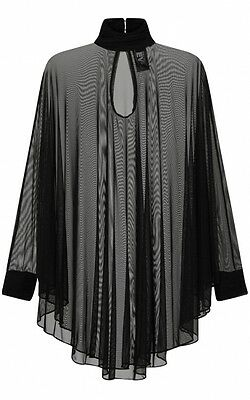 Witchy Witchy (Necessary Evil Lydia Mesh Circle Dress Tunic Top Gothic Punk Witchy)