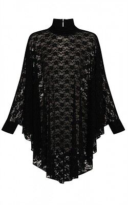 Witchy Witchy (Necessary Evil Lydia Drape Black Lace Top Tunic Gothic Punk Witchy)