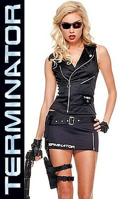 Terminator T-800 Killer Cutie Licensed Costume, Music Legs 70479, 5 Pc, Size - Terminator T 800 Kostüm