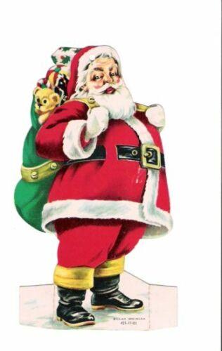 1966 Santa Claus First National Bank Staunton Illinois Die-Cut Advertising