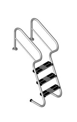 Gebraucht, Schwimmbecken Treppenleiter V2A mit 4 Sicherheitsstufen Pooltreppe Pooleinstieg gebraucht kaufen  Hausham