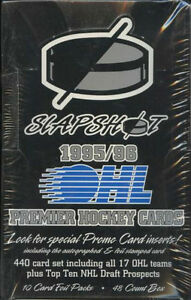 1995-96 SLAPSHOT hockey .. O.H.L. box .. JOE THORNTON, JON SIM ?