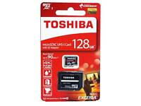 128GB Toshiba Exceria Micro SD Cards With Adaptor