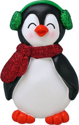 Penguin with Male Name Austin Personalized Christmas Tree Ornament ()