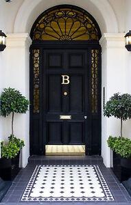 SOLID BRASS DOOR KNOCKER | MONOGRAM B | including matching BRASS SCREWS