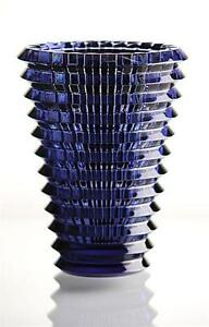 Baccarat-Eye-Vase-NIB-Made-in-France-Midnight-Blue