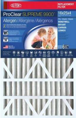 16x25x4 DuPont ProClear Supreme 9900 Replacement Filter for