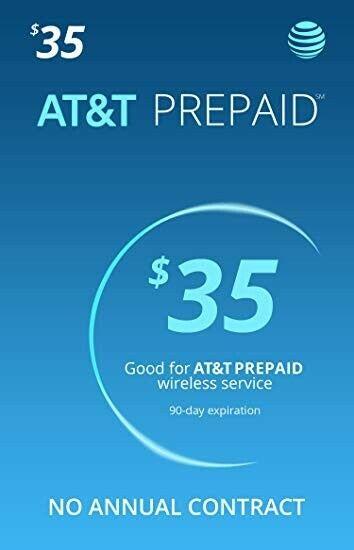 AT&T Prepaid Refill No Card