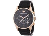 Armani AR5905 Mens Sportivo Rose Gold Black Watch Only £99 and RRP £369 Bargain