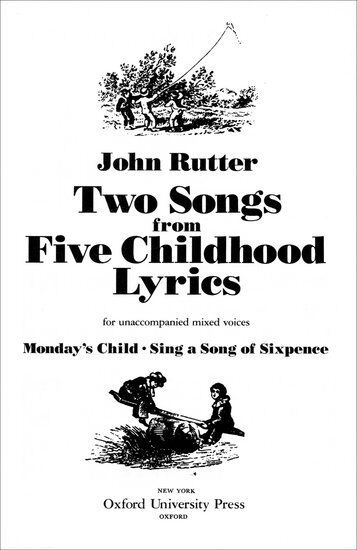 Two Songs from Five Childhood Lyrics, Paperback- SATB - 9780193856943