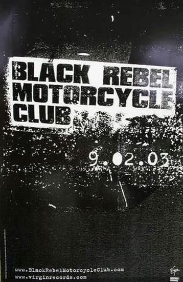 Black Rebel Motorcycle Club 2003 take them on advance poster New Old Stock