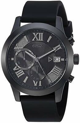 GUESS Men's Black Rubber Classic Watch Analog U1055G1