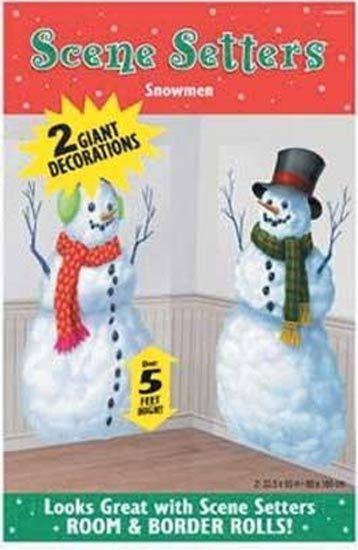 Christmas Scene Setter Decoration Add-on - HAPPY SNOWMEN 672154