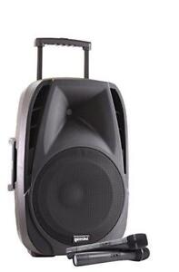 "Gemini ES-12TOGO Battery Powered Speaker with 12"" Woofer & Wireless Microphones"