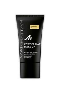Manhattan Cosmetics Powder Mat Make Up Foundation 30ml