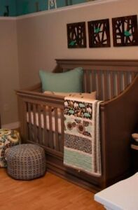 Franklin & Ben 4 in 1 Crib Weathered Gray