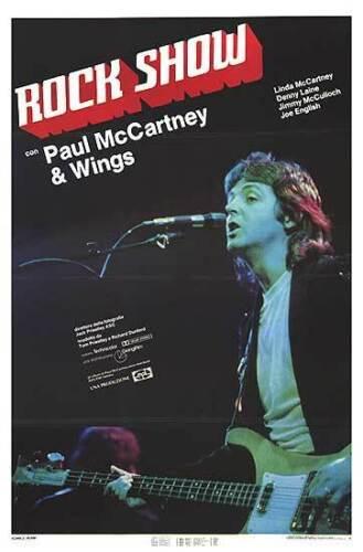 PAUL MCCARTNEY AND WINGS Original Large Rare 1979 Movie Poster ROCK SHOW