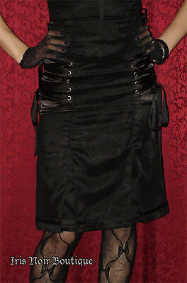 Lip Service Devil Dolls Gothic Lolita Lace Pinup Retro Steampunk Skirt Black S