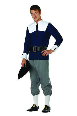 ADULT MENS MALE PILGRIM COSTUME PURITAN THANKSGIVING HOLIDAYS BLACK GREY (Male Pilgrim Costume)