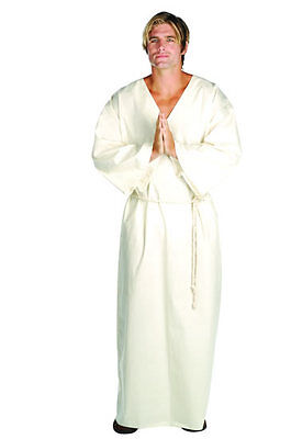 JESUS ADULT COSTUME MOSES SHEPHERD JOSEPH RELIGIOUS BIBLICAL MEN ROBE WHITE - Moses Costumes