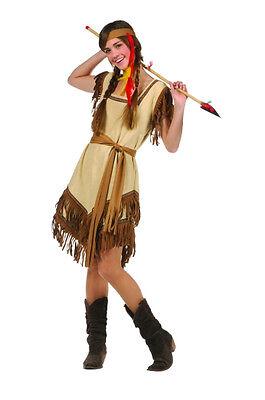 INDIAN PRINCESS ADULT WOMEN COSTUME NATIVE AMERICAN POCAHONTAS TEEN TEENAGE - Princess Costumes Teens